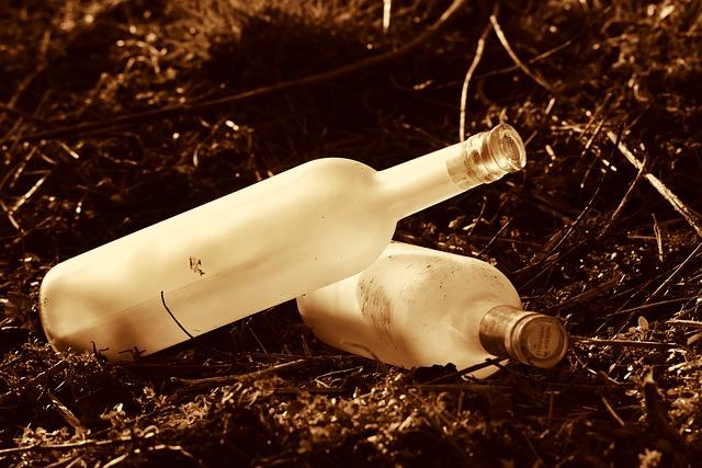 Botellas en el suelo