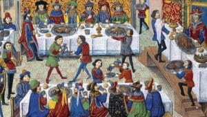 Pintura vino en la Edad Media